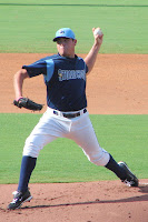 Matt Moore led the Stone Crabs to victory on Friday night.  Photo by Jim Donten.