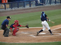 Emeel Salem had two hits on the night including a home run.  Photo by Jim Donten.