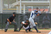 Edward Dorville was 2 for 3 during Saturday's game.  Photo by Jim Donten.