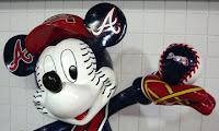Braves fan, Mickey Mouse