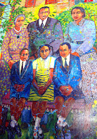 King Family (mural) at the birth home