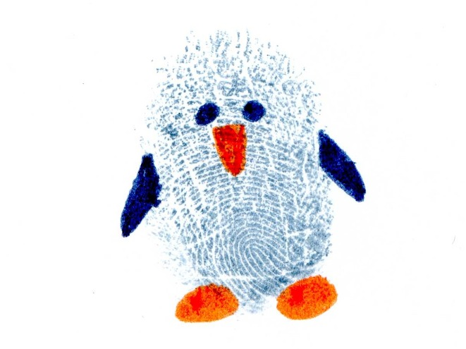 Thumbprint designs on pinterest for Penguin project