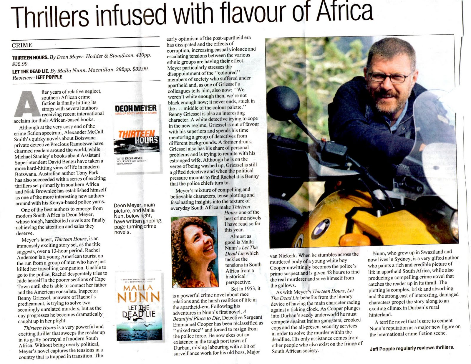 Tony Park Thrillers Infused With Flavour Of Africa