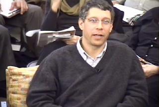 Steven Nadler - videostill Spinoza-roundtable at Philoctetes febr 2009