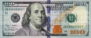 El nuevo billete de 100 dólares