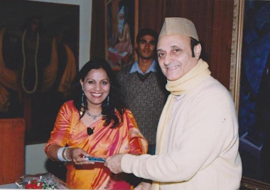 Book release with Dr Karan Singh in 2000