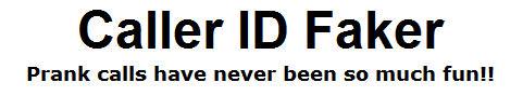 Caller ID Faker