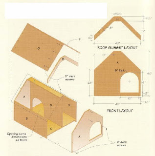 Large doghouse plans house design - Small dog house blueprints ...
