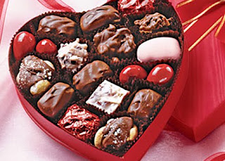 Box of chocolate and sweets