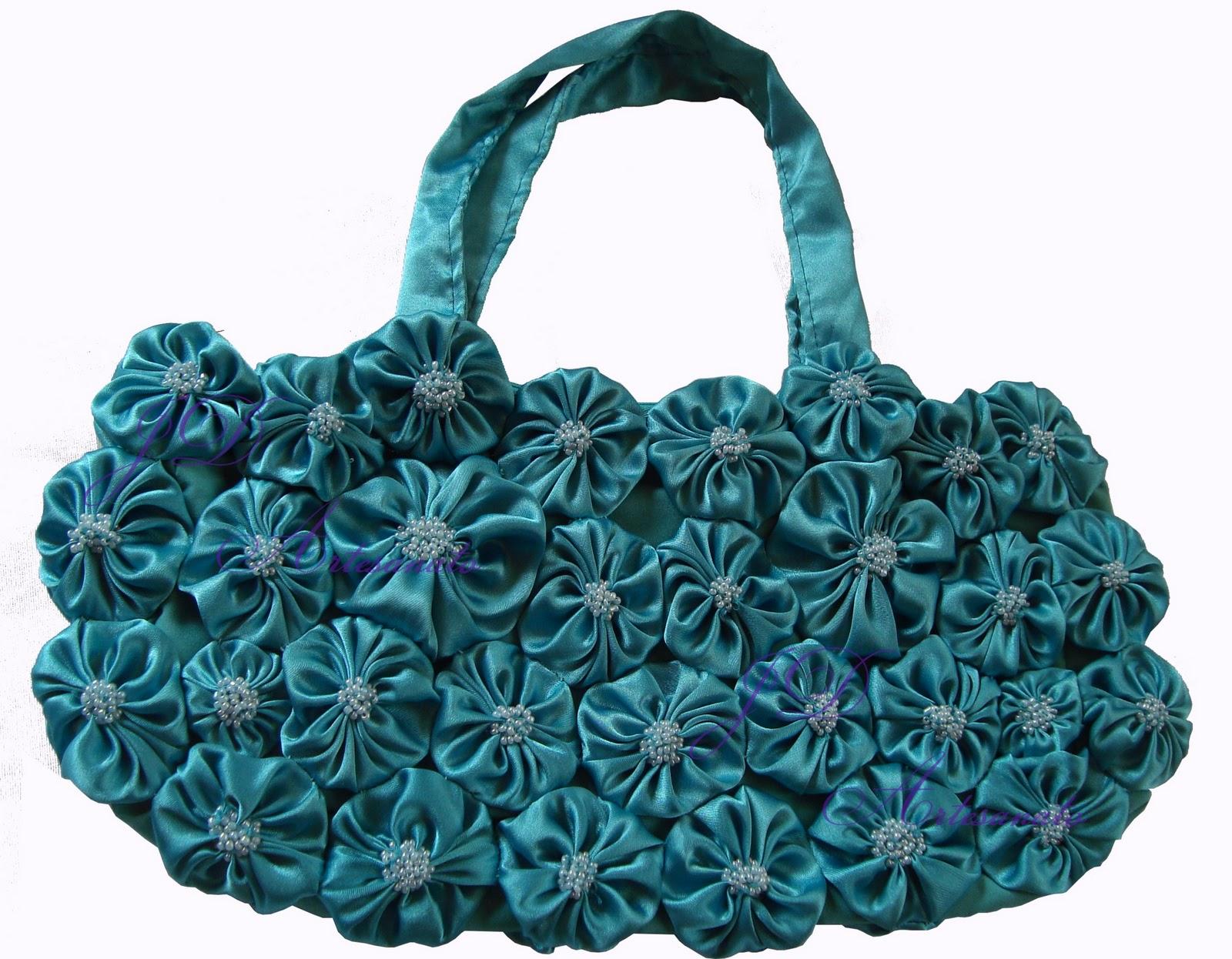 Bolsa De Fuxico Artesanato : Jd artesanato bolsa de fuxico em cetim