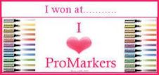 I Won I Love Promarkers Challenge