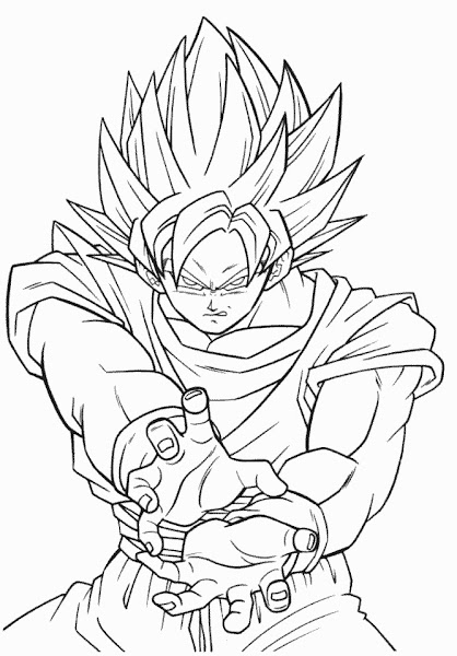 Trunks Dragon Ball Z Coloring Pages