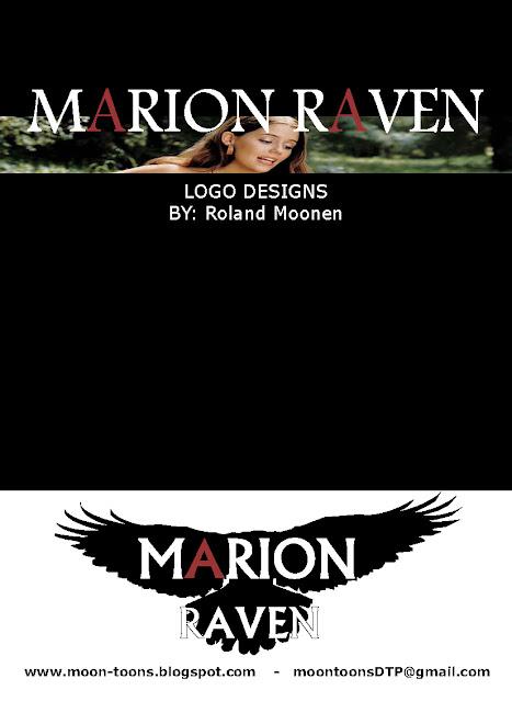 Marion Ravan logo ontwerp (front of document)