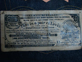 Levis Oil Cloth circa 1945