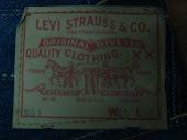 Tag Levis Circa 1960