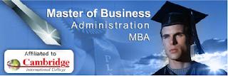 ماجستير إدارة الأعمال MBA