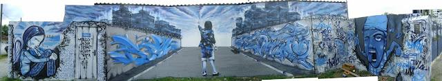 graffiti de izak, driin, rizo, vegam, rz en florianopolis, brasil