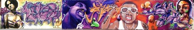 graffiti de izak, vejam, rizo, rz, cern en brasil