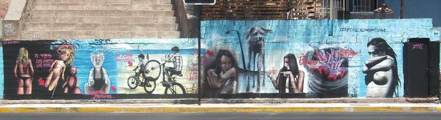 graffiti de izak en av argentina, antofagasta, chile