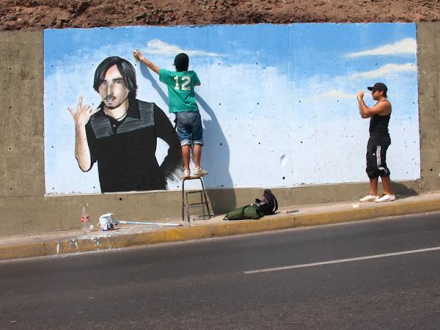 proceso de graffiti de izak, antofagasta, chile
