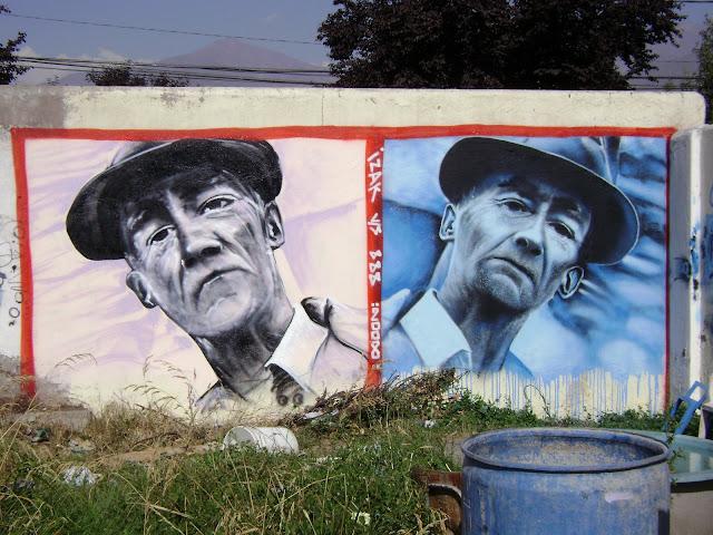 graffiti de izak ft sick en las condes, santiago de chile
