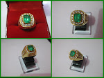 Natural Emerald ±2,5Ct Gold Diamond