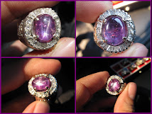 [SUPER SALE!] Certified No HEAT Natural PURPLISH PINK Star Sapphire CEYLON ;