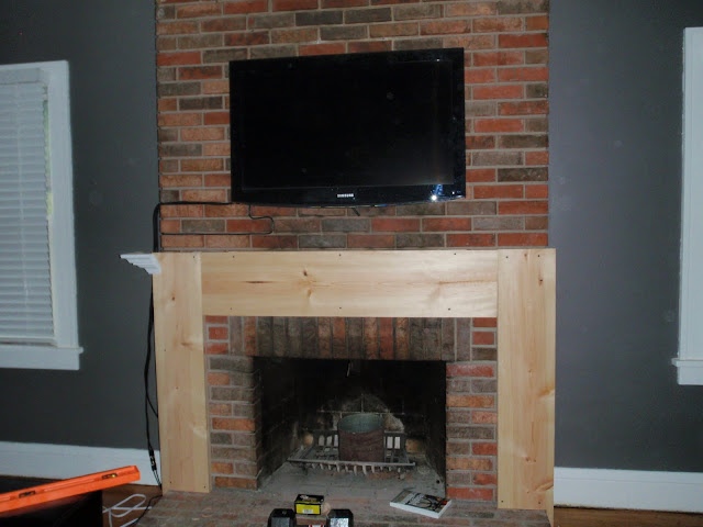 hammers and high heels living room building a fireplace