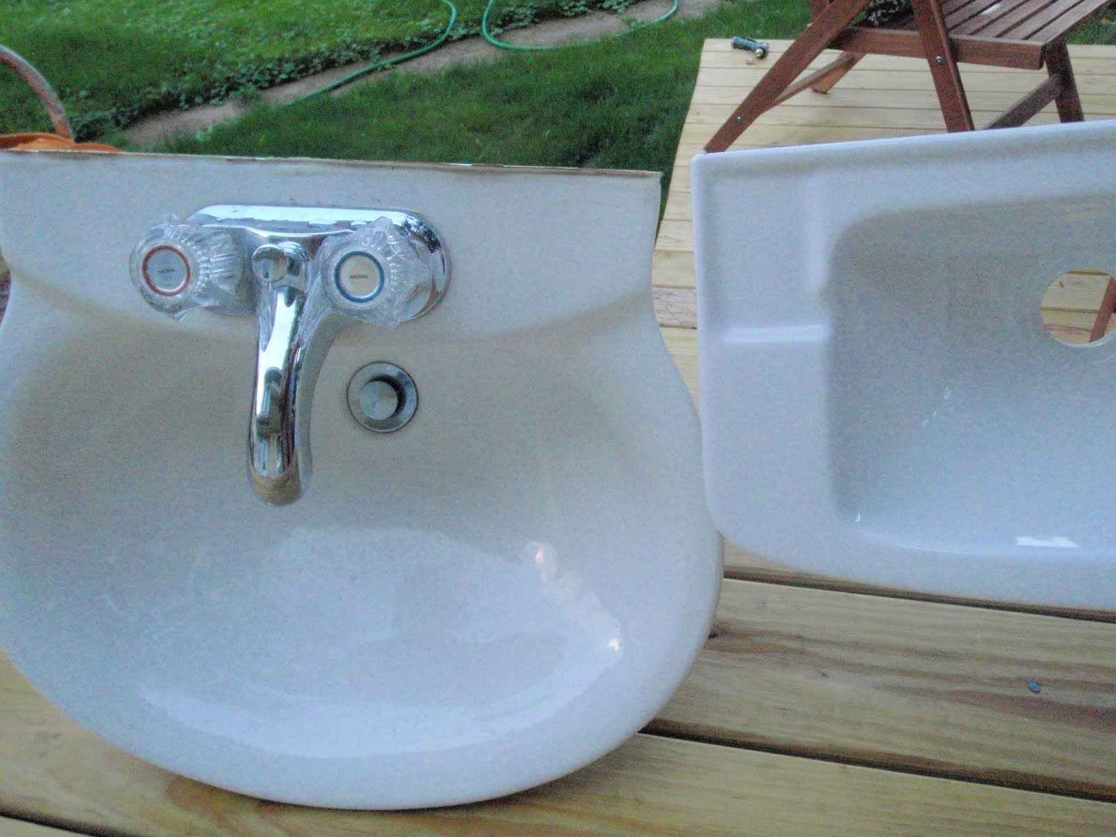 Hammers and High Heels: The New Sink in our Mini Bathroom is Installed!