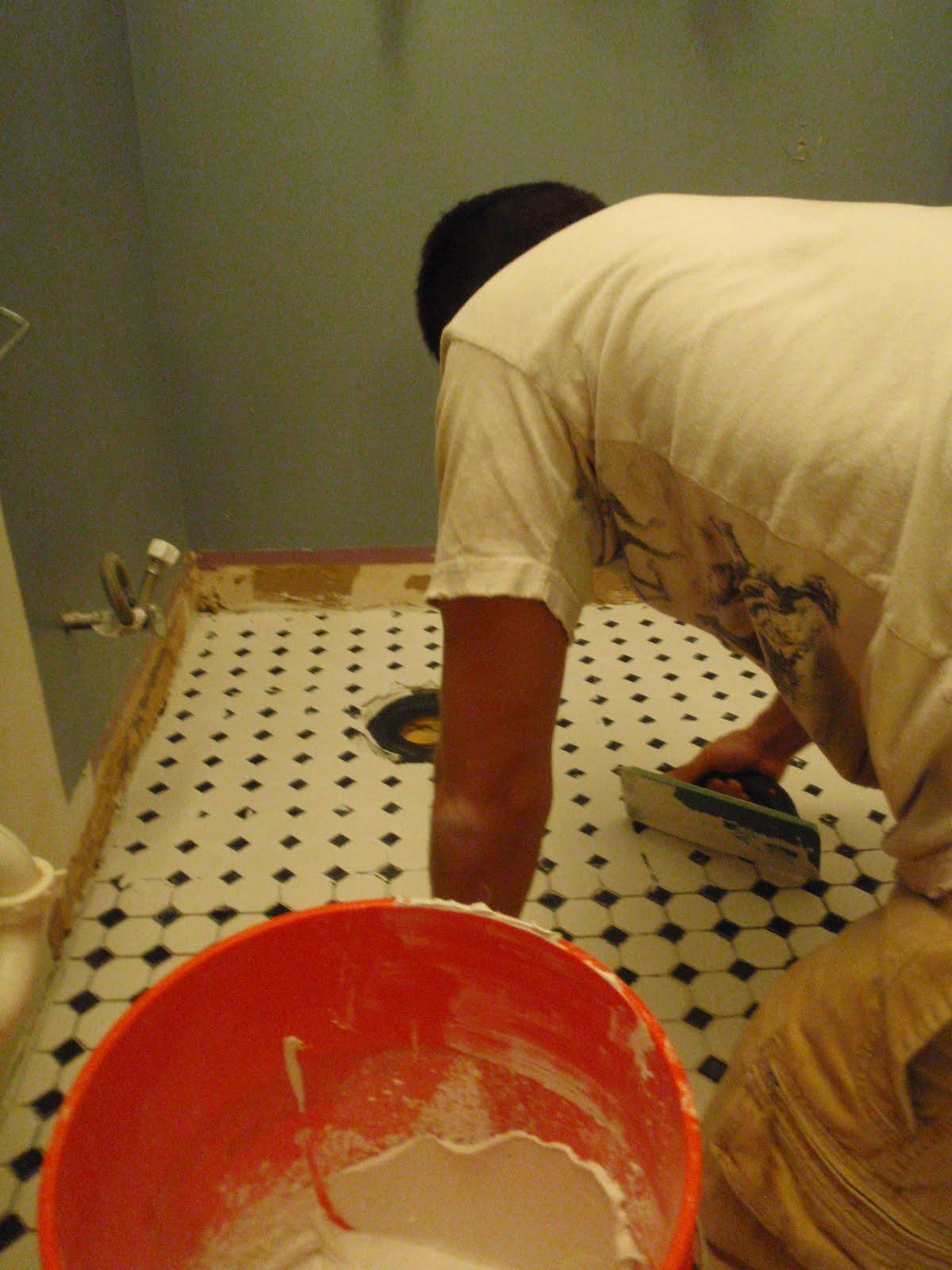 how to clean mortar between tiles