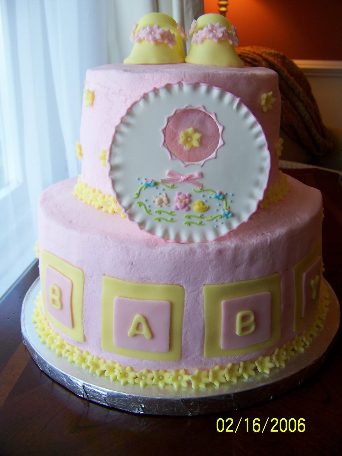 The Red Headed Baker Baby Shower Cake