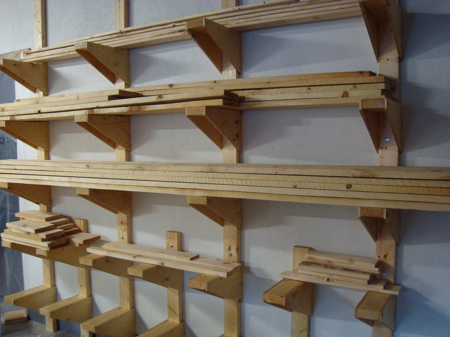 Rolling Tire Storage Rack >> follow your heart woodworking: Workshop Lumber Rack