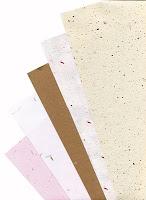 invitacion en papel reciclado