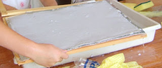 rejilla para hacer papel