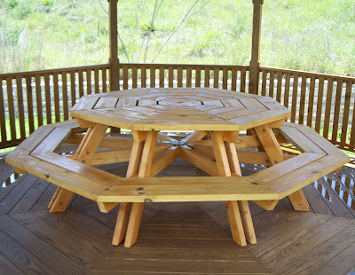 Seanmichaelragan octagonal picnic table for 10 person picnic table