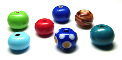 My first few lampwork beads