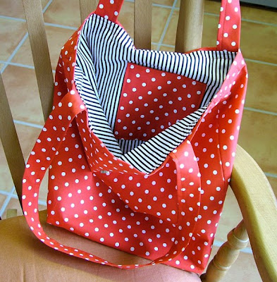 Red & White Polka Dot Bag