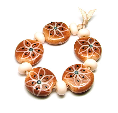 Lampwork Glass Tab Beads