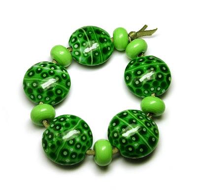 Mosaic Green Beads