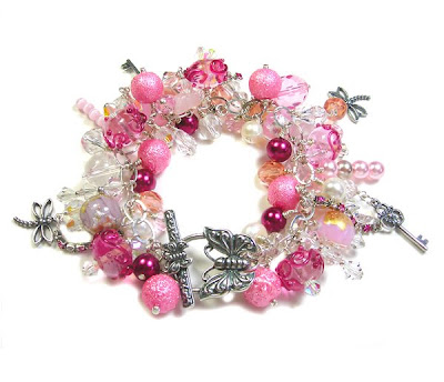 'Pink Flutter' Bracelet by Janine Byrom