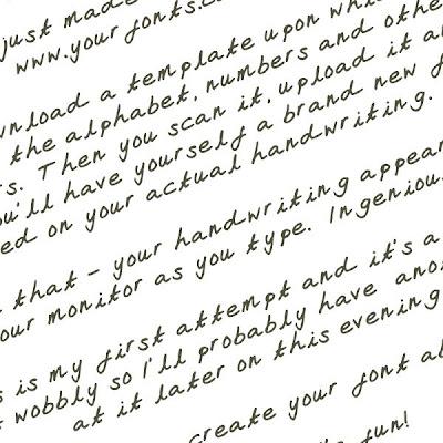 My Handwriting Font