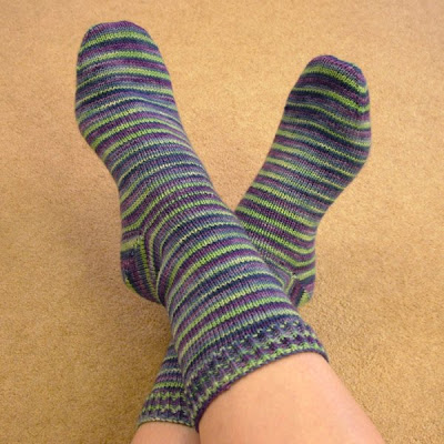 Hand Knitted Striped Socks