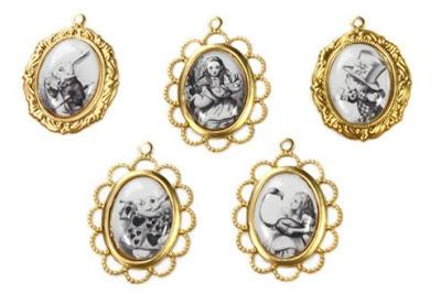 Alice In Wonderland charms handmade by Janine Byrom