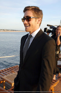 Jake arriving at Cannes for Zodiac