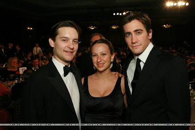 Jake Gyllenhaal and Tobey Maguire in the same room. Hint: Jake is the one on the right.