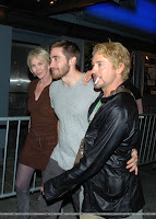 Jake Gyllenhaal, Robert Downey, Jr. and Trudie Styler