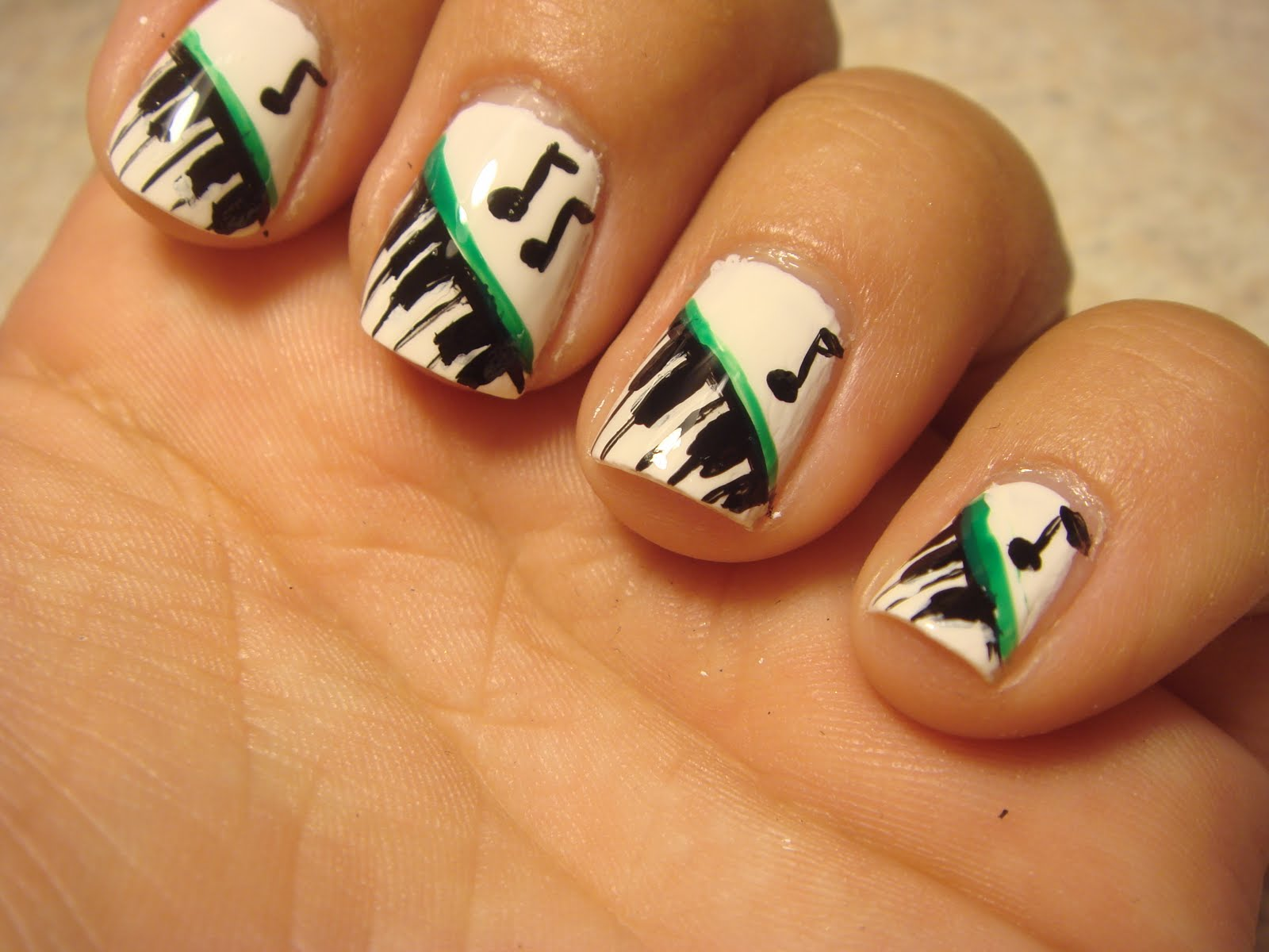 The Exciting Black and white nails art design 2015 Photograph