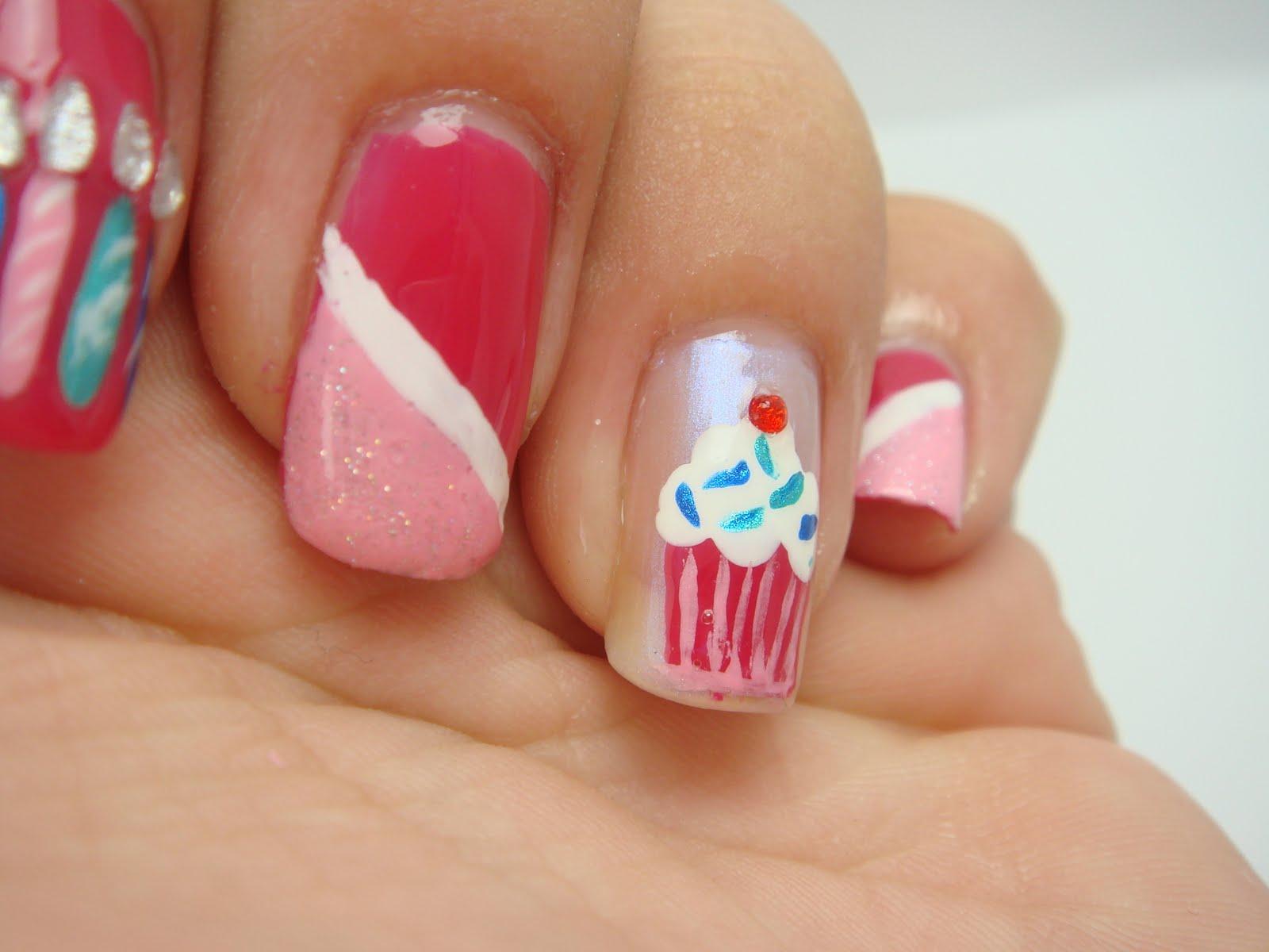 All Nail and Cosmetics: Birthday Cupcake Nails