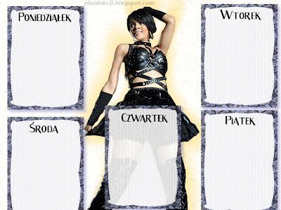 plan lekcji z Rihanna