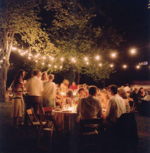 outdoor lighting inspiration | Merriment Events™ Wedding Planning